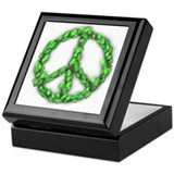 Peace Holly Wreath Keepsake Box
