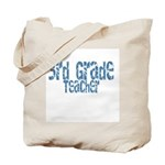 Distressed Blue 3rd Grade Tote Bag