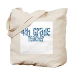 Distressed Blue 4th Grade Tote Bag