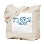 Distressed Blue 5th Grade Tote Bag