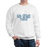 Distressed Blue 6th Grade Sweatshirt