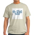 Distressed Blue 4th Grade Ash Grey T-Shirt