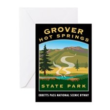 Grover Hot Springs - Greeting Cards (Pk of 10)