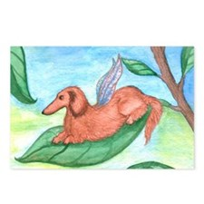 Longhaired Dachshund Fairy Postcards (8)