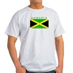 Jamaica Jamaican Flag Ash Grey T-Shirt