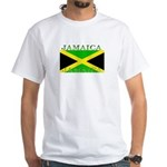 Jamaica Jamaican Flag White T-Shirt
