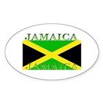 Jamaica Jamaican Flag Oval Sticker