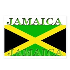 Jamaica Jamaican Flag Postcards (Package of 8)