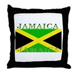 Jamaica Jamaican Flag Throw Pillow