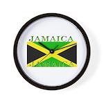 Jamaica Jamaican Flag Wall Clock