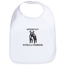 Cute Pitbull logo Bib
