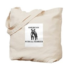 Cute Pitbull logo Tote Bag