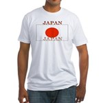 Japan Japanese Flag Fitted T-Shirt