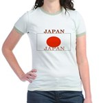 Japan Japanese Flag Jr. Ringer T-Shirt