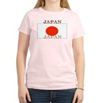 Japan Japanese Flag Women's Pink T-Shirt