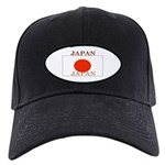 Japan Japanese Flag Black Cap