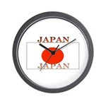 Japan Japanese Flag Wall Clock