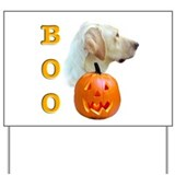 Halloween Yellow Lab Boo Yard Sign