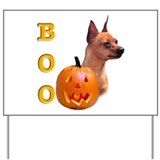 Halloween Min Pin Boo Yard Sign