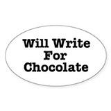 Will Write For Chocolate - pl Oval Decal