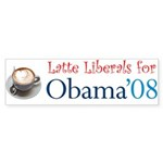 Latte Liberals for Obama Bumper Sticker (10 pk)