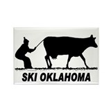 Ski Oklahoma Rectangle Magnet (100 pack)