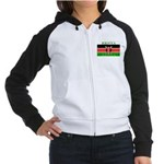 Kenya Kenyan Flag Women's Raglan Hoodie