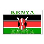 Kenya Kenyan Flag Rectangle Sticker