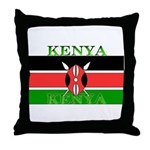 Kenya Kenyan Flag Throw Pillow