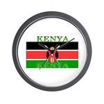 Kenya Kenyan Flag Wall Clock