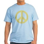 Golden Peace Sign Light T-Shirt