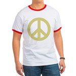 Golden Peace Sign Ringer T