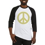 Golden Peace Sign Baseball Jersey