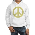 Golden Peace Sign Hooded Sweatshirt