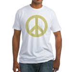 Golden Peace Sign Fitted T-Shirt