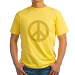 Golden Peace Sign Yellow T-Shirt