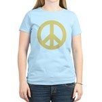 Golden Peace Sign Women's Light T-Shirt