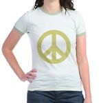 Golden Peace Sign Jr. Ringer T-Shirt