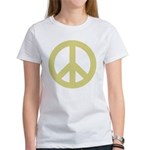 Golden Peace Sign Women's T-Shirt