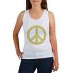 Golden Peace Sign Women's Tank Top