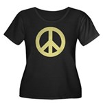 Golden Peace Sign Women's Plus Size Scoop Neck Dar