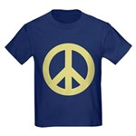 Golden Peace Sign Kids Dark T-Shirt
