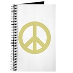 Golden Peace Sign Journal
