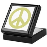 Golden Peace Sign Keepsake Box