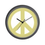 Golden Peace Sign Wall Clock