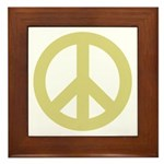 Golden Peace Sign Framed Tile