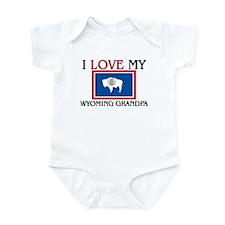 I Love My Wyoming Grandpa Infant Bodysuit