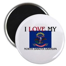 I Love My North Dakota Grandpa Magnet