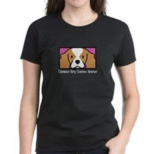 Anime Blenheim Cavalier Women's Black TShirt