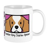 Anime Blenheim Cavalier King Charles Spaniel Mug